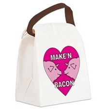 pigs,makinbacon.png Canvas Lunch Bag