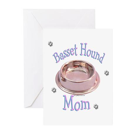 Basset Hound Mom Greeting Cards (Pk of 10)