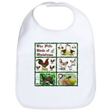 Christmas Birds Bib