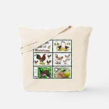 Christmas Birds Tote Bag