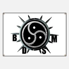 Spiked Collar BDSM Symbol Banner