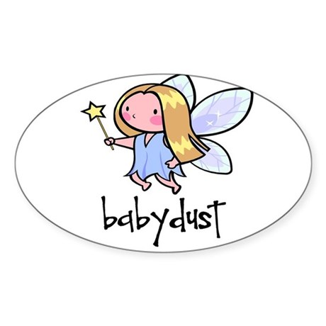 Baby Dust Fairy Oval Sticker