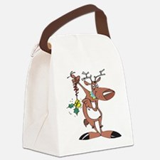 reindeer_holly,oval.png Canvas Lunch Bag