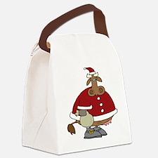 santacow.png Canvas Lunch Bag