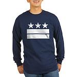 3 Stars 2 Bars Long Sleeve Dark T-Shirt