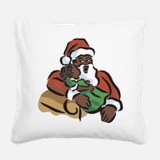 black-santa.png Square Canvas Pillow