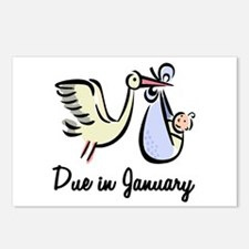 Due In January Stork Postcards (Package of 8)