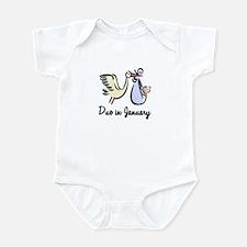 Due In January Stork Infant Bodysuit