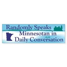 Random Minnesotan II Bumper Bumper Sticker