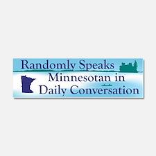 Random Minnesotan II Car Magnet 10 x 3