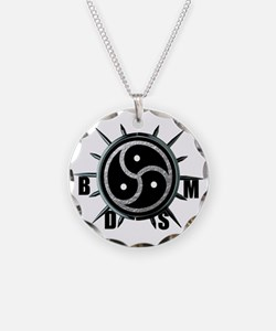 Spiked Collar BDSM Symbol Necklace