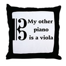 My Other Piano Is A Viola Throw Pillow