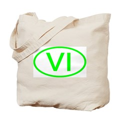 VI Oval - Virgin Islands Tote Bag