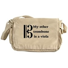My Other Trombone Is A Viola Messenger Bag