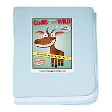 Goats Gone Wild baby blanket