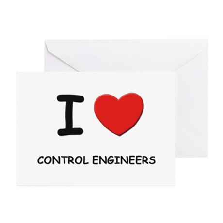 I love control engineers Greeting Cards (Package o