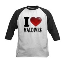 I Heart Maldives Baseball Jersey