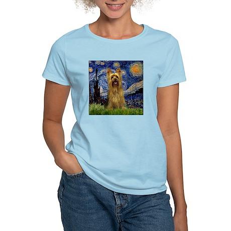 Starry Night Silky Terrier (B T-Shirt