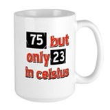 75th birthday Large Mugs (15 oz)