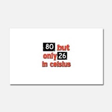 80 year old designs Car Magnet 20 x 12