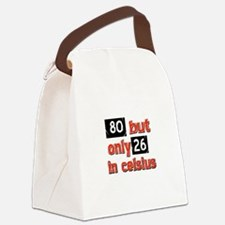 80 year old designs Canvas Lunch Bag