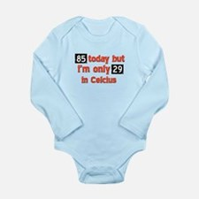 85 year old designs Long Sleeve Infant Bodysuit