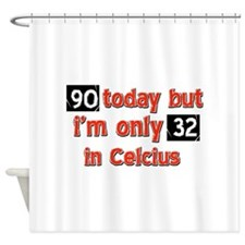 90 year old designs Shower Curtain