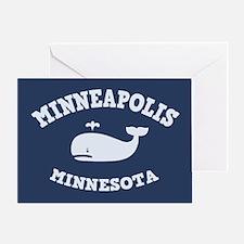 Minneapolis Whale Tours Greeting Card