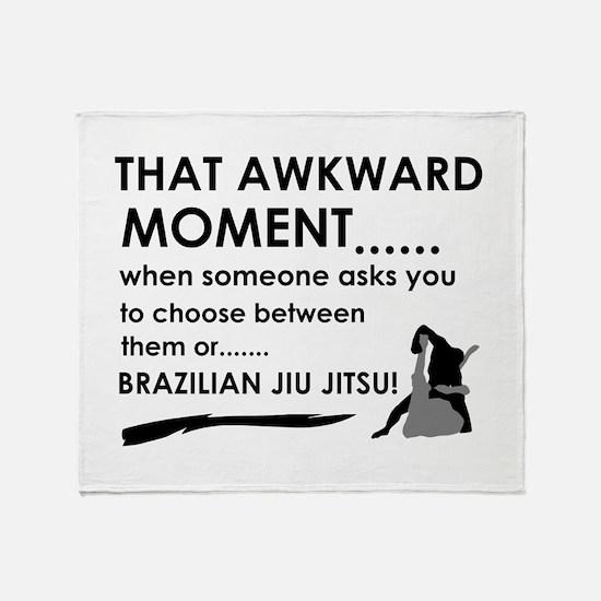 Cool Brazilian Jiu Jitsu designs Throw Blanket
