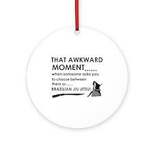 Cool Brazilian Jiu Jitsu designs Ornament (Round)