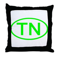 TN Oval - Tennessee Throw Pillow