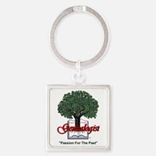 Passion For The Past Square Keychain
