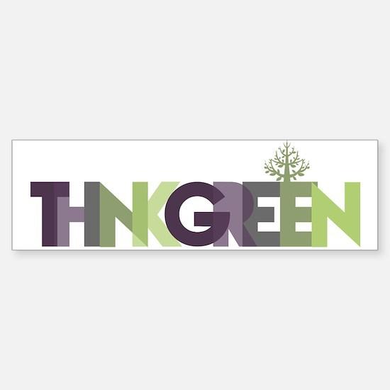 Think Green Text Bumper Bumper Bumper Sticker