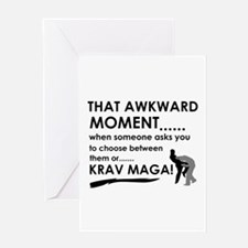 Cool Krav Maga designs Greeting Card