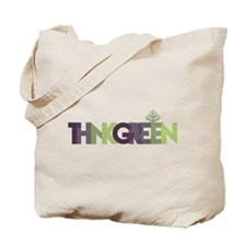 Think Green Text Tote Bag