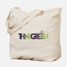 Think Green Text Tote Bag