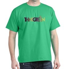 Think Green Text T-Shirt