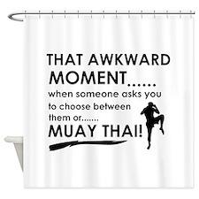 Cool Muay Thai designs Shower Curtain