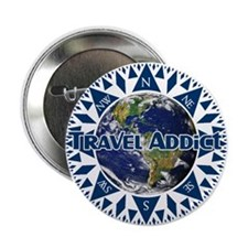 Travel Addict Compass Button