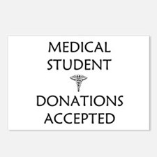 Med Student - Donations Accepted Postcards (Packag