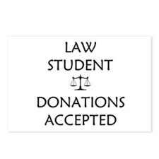 Law Student - Donations Accepted Postcards (Packag