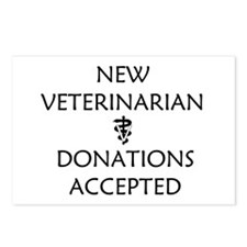 New Veterinarian - Donations Accepted Postcards (P