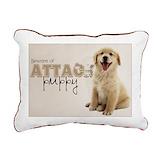 English cream golden retriever Rectangle Canvas Pillows