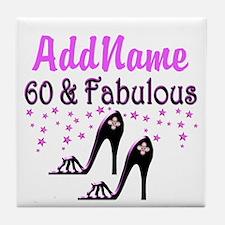 60 & A SHOE QUEEN Tile Coaster