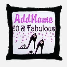 60 & A SHOE QUEEN Throw Pillow