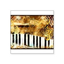 Piano: Abstract Music Motif Sticker