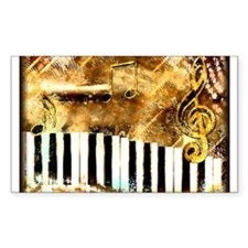 Piano: Abstract Music Motif Decal