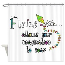 flying a kite 2013 Shower Curtain