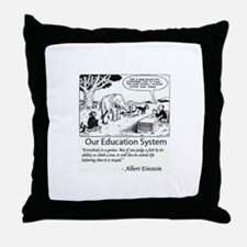 Current Education System Throw Pillow