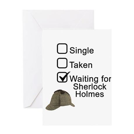 Waiting for Sherlock Greeting Card